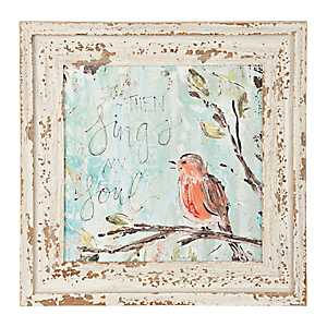 Sparrow Sings My Soul Framed Art Print
