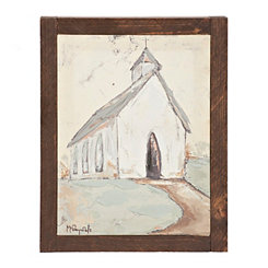 Mini Church Hand Embellished Framed Art Print