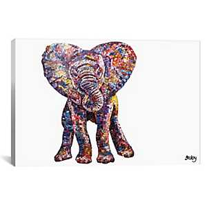 Caper Elephant Canvas Art Print