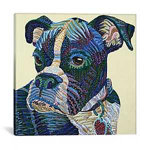 Boxer Portrait Canvas Art Print