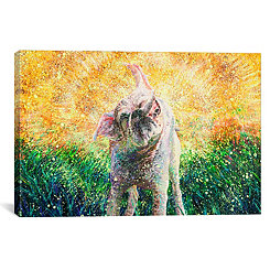 Chloe Shakes Canvas Art Print