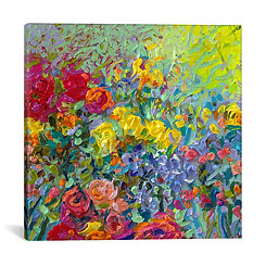 Clay Flowers Canvas Art Print