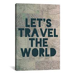 Travel the World Canvas Art Print