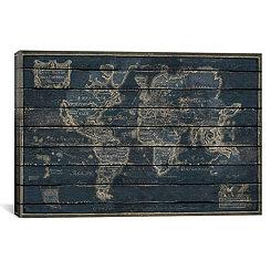 Mappe Monde Canvas Art Print