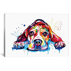 Splatter Beagle Canvas Art Print