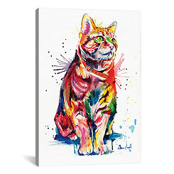 Splatter Tabby Canvas Art Print