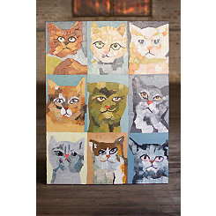 Crazy Cats Oil Painted Canvas Art Print