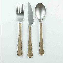 Fork, Knife, and Spoon Wall Plaques, Set of 3