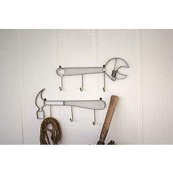 Metal Tool Coat Racks, Set of 2