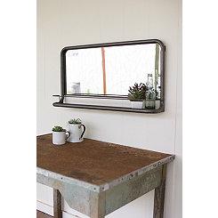 Metal Frame Horizontal Pharmacy Mirror