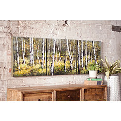 Birch Tree Connected Canvas Art Prints, Set of 3