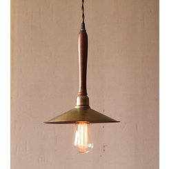 Antique Brass Cone Pendant Lamp