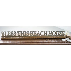 Bless This Beach House Galvanized Metal Sign