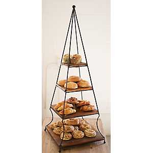 Wood and Iron Pastry Rack