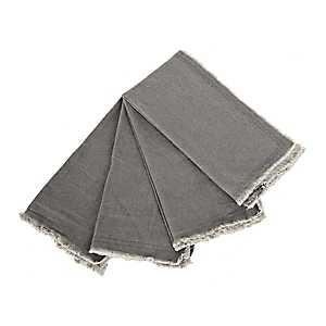 Gray Piana Frayed Napkins, Set of 4