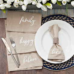 Natural Words Napkins, Set of 4