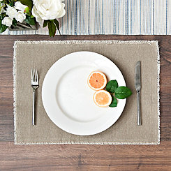 Piana Natural Frayed Edge Placemat