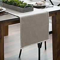 Natural Piana Frayed Table Runner