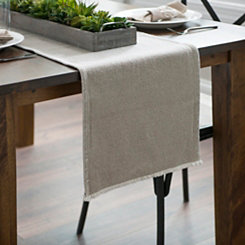 Natural Piana Frayed Table Runner