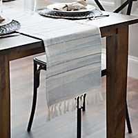 Seaside Ombre Stripe Table Runner