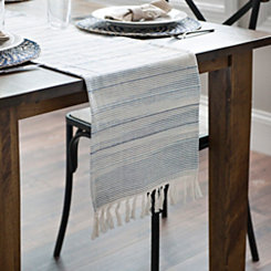 Seaside Ombre Stripe Table Runner