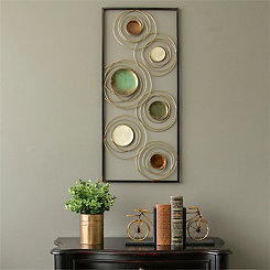 Geometric Rings Metal Panel Plaque