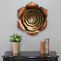 Alice Ombre Bronze Metal Flower Plaque