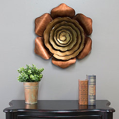 Alice Ombre Bronze Metal Flower Plaque