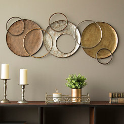 Knoxville Metallic Circles Wall Plaque