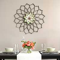 Mandala Flower Metal Wall Plaque