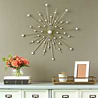 Sparkle Burst Mirrored Wall Plaque