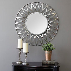 Nikki Silver and Copper Wall Mirror