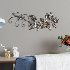 Floral River Bend Metal Wall Plaque