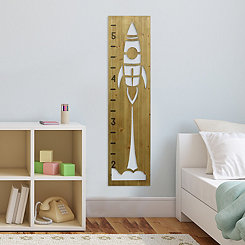 Rocketship Growth Chart Wall Plaque