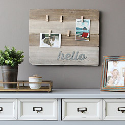 Wood Plank Clip Board Wall Plaque