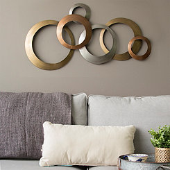 Multi Metallic Rings Wall Plaque