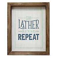 Soak, Lather, Rinse, Repeat Framed Wall Plaque