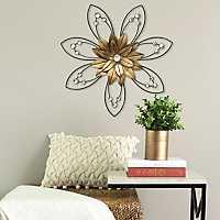 Enchanting Flower II Metal Wall Plaque