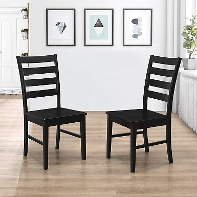 Black Ladder Back Wood Dining Chairs  Set of 2. Dining Room Chairs   Kirklands