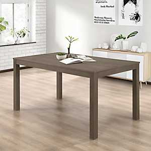 Aged Gray Wooden Dining Table