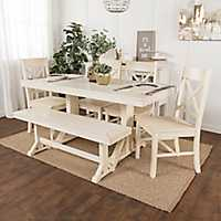 Martina Antique White 6-pc. Dining Set