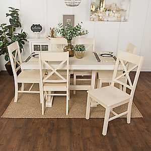 Martina Antique White 7-pc. Dining Set