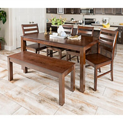 Harper Walnut Wood 6-pc. Dining Set