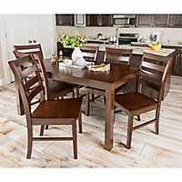 Harper Walnut Wood 7-pc. Dining Set