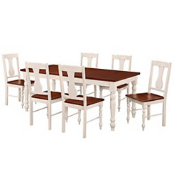 Two-Toned Wood 7-pc. Dining Set