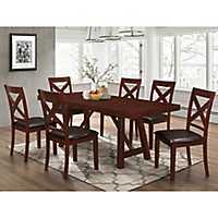 Trestle Espresso Wood 7-pc. Dining Set