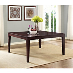 Cappuccino Wood Square Dining Table