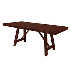 Trestle Espresso Wood Dining Table