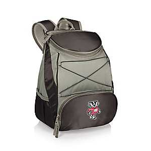 Wisconsin Badgers Black Cooler Backpack