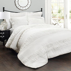 White Hilary 5-pc. Full/Queen Comforter Set